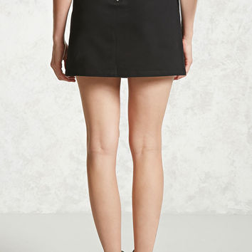 Exposed Zipper Mini Skirt
