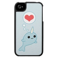Hearting Narwhal iPhone Case from Zazzle.com