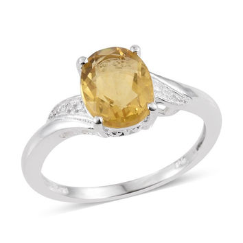 Canary Yellow Fluorite Ring