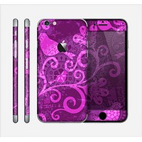 The Bright Pink & Purple Floral Paisley Skin for the Apple iPhone 6
