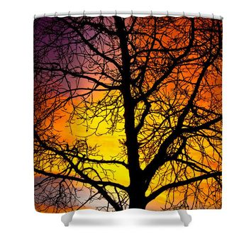 Colorful Silhouette Shower Curtain