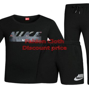 Nike Three-Piece Suit 2018 Spring New Style Clothes L-4XL X-7709 Black