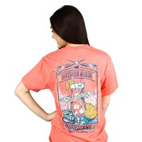 Cocktail Collection Hurricane Tee in Coral by Southern Marsh