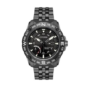 Citizen Eco-Drive Men's PRT Gunmetal Ion-Plated Stainless Steel Watch - AW7047-54H