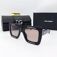 D&G fashion casual ladies large frame printed LOGO sunglasses