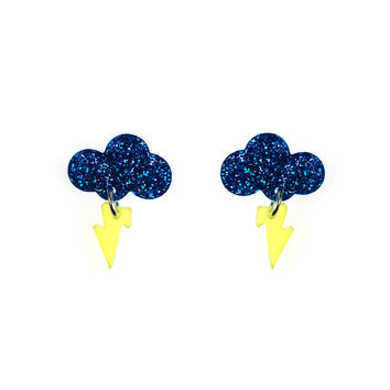 Baby Rain Cloud Earrings