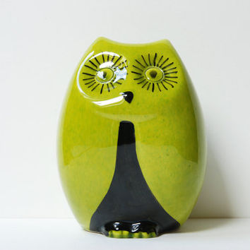 Vintage 1960s Italian Baldelli owl money box/bank.