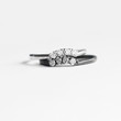 Curved Diamond Band Ring in Sterling