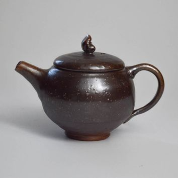 Woodfired Stoneware with Salt Glaze Teapot 150mL by Jonathan Steele