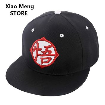 2017 Japan Anime Dragon Ball Z Baseball Cap For Men Women Embroidery Dragonball Goku Snapback Hats God Letter Hip Hop Caps M70