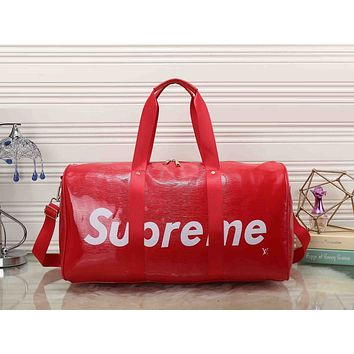 LV Louis Vuitton x Supreme Women Leather Luggage Travel Bags Tote Handbag