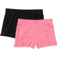 Walmart: No Boundaries Juniors Elastic Waist Cheer Short 2 Pack