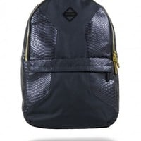 Cut & Sew Black Faux Crocodile Backpack | Sprayground Backpacks, Bags, and Accessories