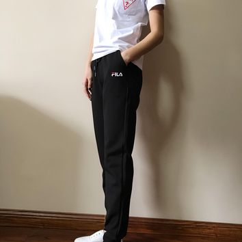 KUYOU FILA 2019 spring and summer new casual sports pants fabric is cool and silky season can be worn