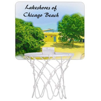 Lakeshores of Chicago Beach Mini Basketball Hoop