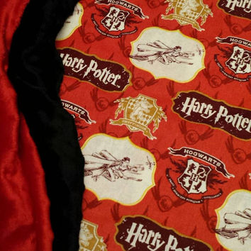 HARRY POTTER Baby Blanket Minky CUSToM Personalized BabY Potter Nursery ShoweR Gift Add a Diaper Wipes Case Burp Cloth  Designs by Sugarbear