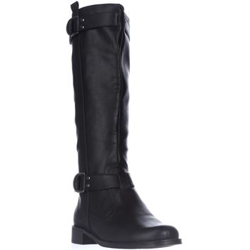 Aerosoles Ride Line Riding Boots, Black, 9.5 US