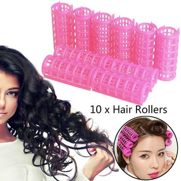 10x Hair Salon Curlers Rollers Tools Soft Large Hairdressing Tool Spiral Circle  MON
