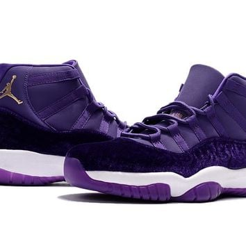 Air Jordan Retro 11 Velvet Purple Flowers Pattern Basketball Shoes Men Women 11s Velvet Heiress Purple Flowers Sneakers High Quality With Shoes Box