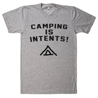 CAMPING IS INTENTS T SHIRT
