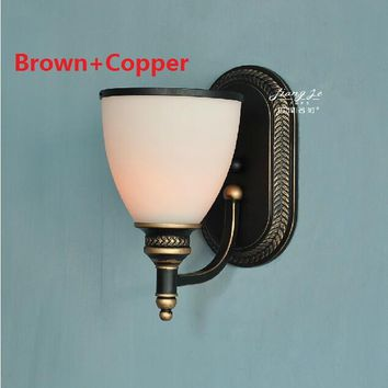 American Country Vintage Wall Light Nordic RH Loft Industrial Decor E27 Bedside Lamp Fixtures Modern Bathroom Luminaire 110 220V