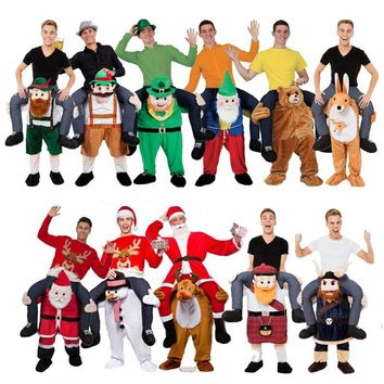 Novelty Ride on Me Mascot Costumes Carry Back Funny Animal Pants Fancy Dress Up Oktoberfest Halloween Party Cosplay Costumes