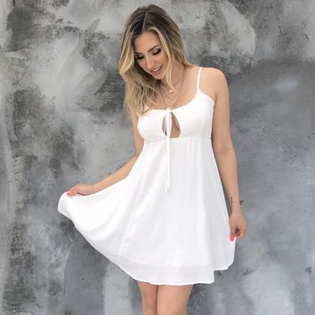 Promenade Skater Dress in White