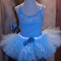 Princess Elsa Snow Queen Inspired from Disney Movie Frozen Adult Running Marathon Tutu Skirt Dress Birthday Party Costume Halloween