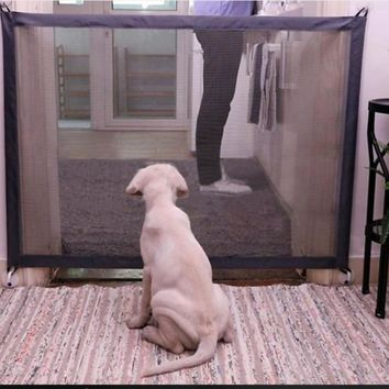 Magic Pet Woven Mesh Safe Guard and Install Anywhere Pet  Safety Enclosure Dog Gate Fences