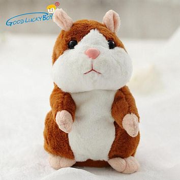 16CM Talking Hamster Mouse Pet Plush Toy Hot Cute Speak Talking Sound Record Hamster Educational Toy for Children Gift