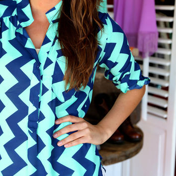 Easy On The Eyes {Navy + Mint}
