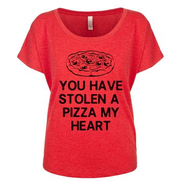 You Have Stolen A Pizza My Heart Women's Dolman