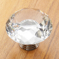 10pcs  Diamond K9 Clear Crystal Glass Furniture Knobs Kitchen Hardware Wardrobe Drawer Cabinet Handle Drawer Closet Door Pull