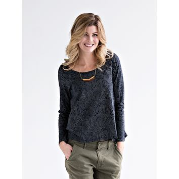 Mata Traders Cozy Day Top Stone