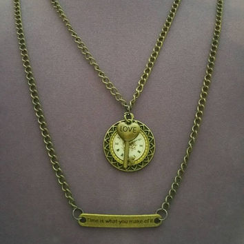 Time is what you make of it necklace