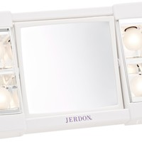 Jerdon J1010 6-Inch Portable Tabletop Two-Sided Swivel Lighted Makeup Mirror with 3x Magnification, White Finish:Amazon:Beauty
