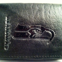 Seattle Seahawks Black Leather Wallet