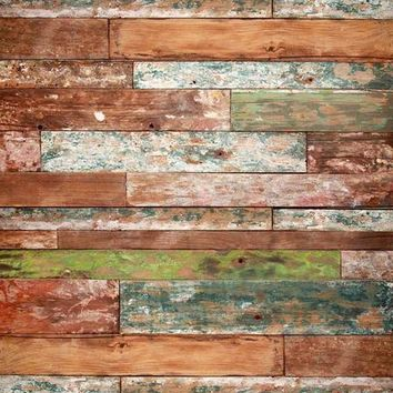 PRINTED DISTRESSED COLORED WOOD BACKDROP 5x6 - LCPC2263 - LAST CALL