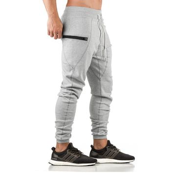 2018 High Quality Jogger Pants Men Fitness Bodybuilding Gyms Pants For Runners Brand Clothing Autumn Sweat Trousers Britches