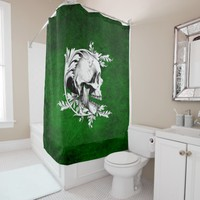 Skull Cameo 1 Shower Curtain