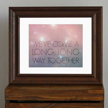 Love Quote Art Print  celestial dreamy hazy galaxy by CisforColor