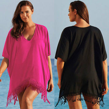Plus Size Cover-up Smock