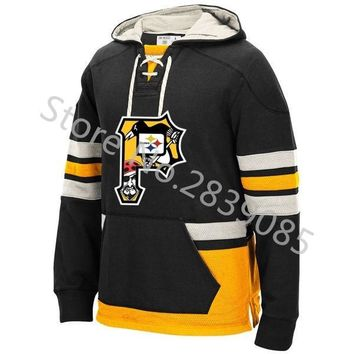 New Designs Winter Pittsburgh Hoodies, Stitched Custom Any Penguins/Steelers/Pirates Team Player Name And Number Sweatshirt
