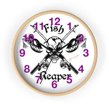 """MV Collection """"Fish Fear Me"""" Wall clock"""