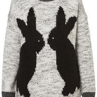 Knitted Mirror Bunny Jumper - New In