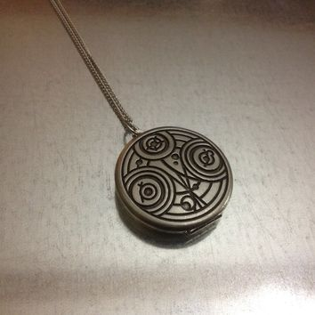 Time Traveler Inspired Locket Necklace