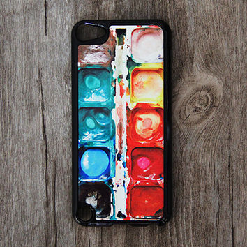 Water Color Paint iPod Touch 5 case and iPod Touch 4 Case,iTouch 5/4 Rubber Case