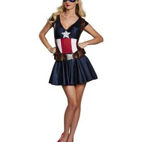 Captain America Adult Womens Costume – Spirit Halloween