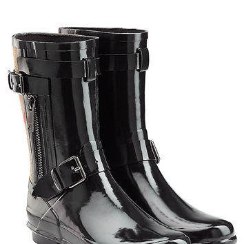 Burberry Shoes & Accessories - Rubber Rain Boots with Check Panel