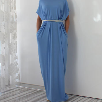 Blue Maxi dress, Caftan, Plus size dress, Abaya, Plus size clothing, Kaftan, Oversized dress, Abaya, Party dress, Casual dress